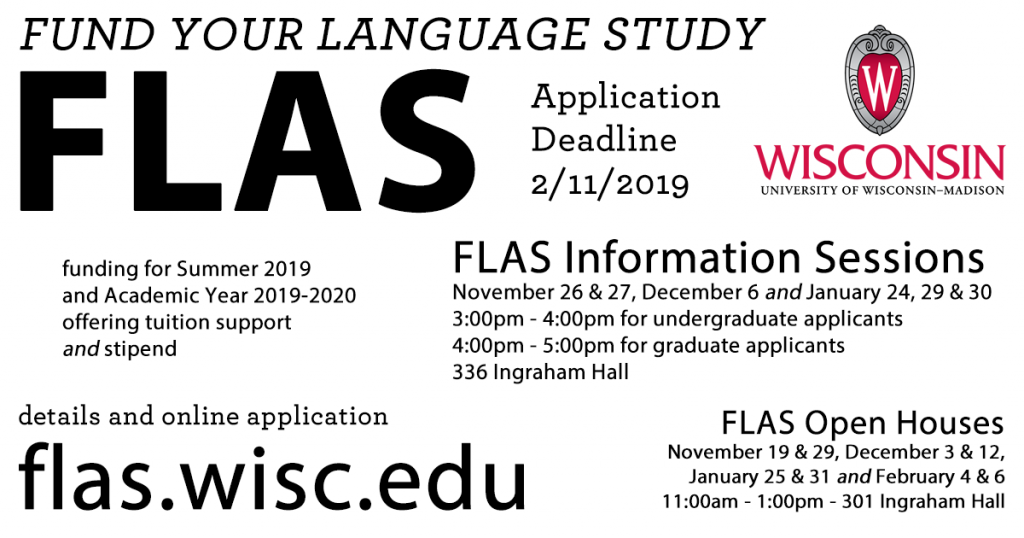 For more information on FLAS fellowships, visit flas.wisc.edu.