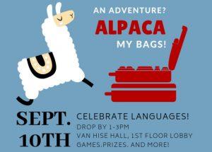 Flyer for Celebrate Languages! on September 10, 2019