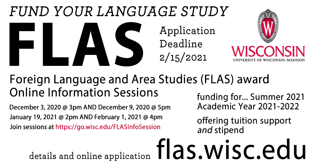FLAS Information Sessions Flyer